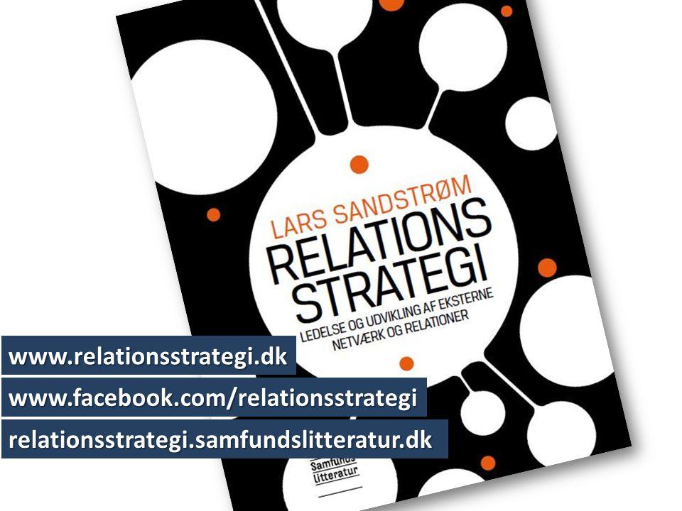 www.facebook.com/relationsstrategi relationsstrategi.samfundslitteratur.dk www.relationsstrategi.dk