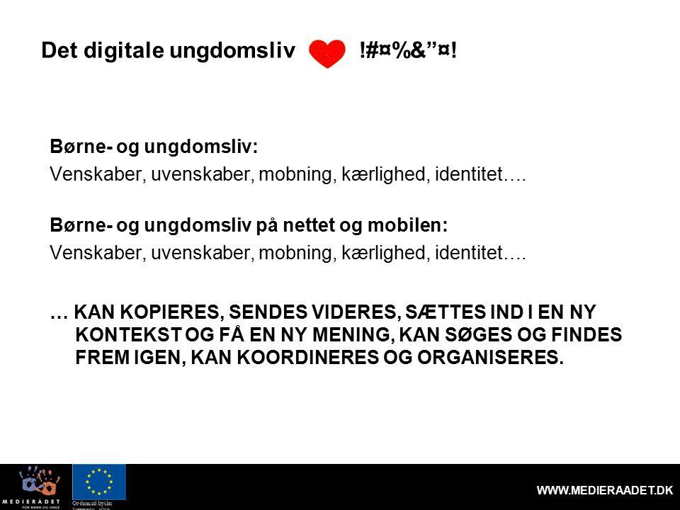 Det digitale ungdomsliv !#¤%& ¤.