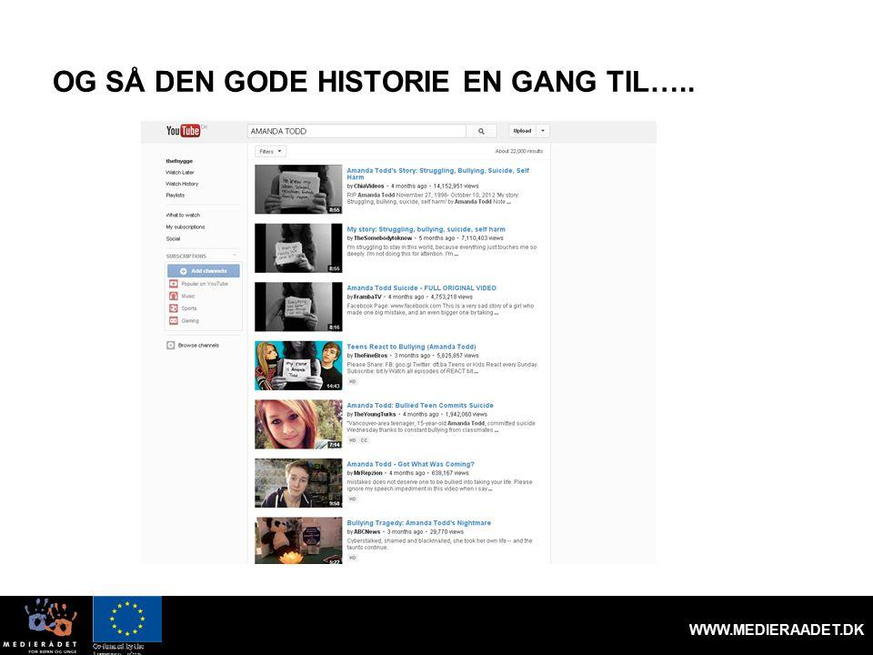 OG SÅ DEN GODE HISTORIE EN GANG TIL….. WWW.MEDIERAADET.DK