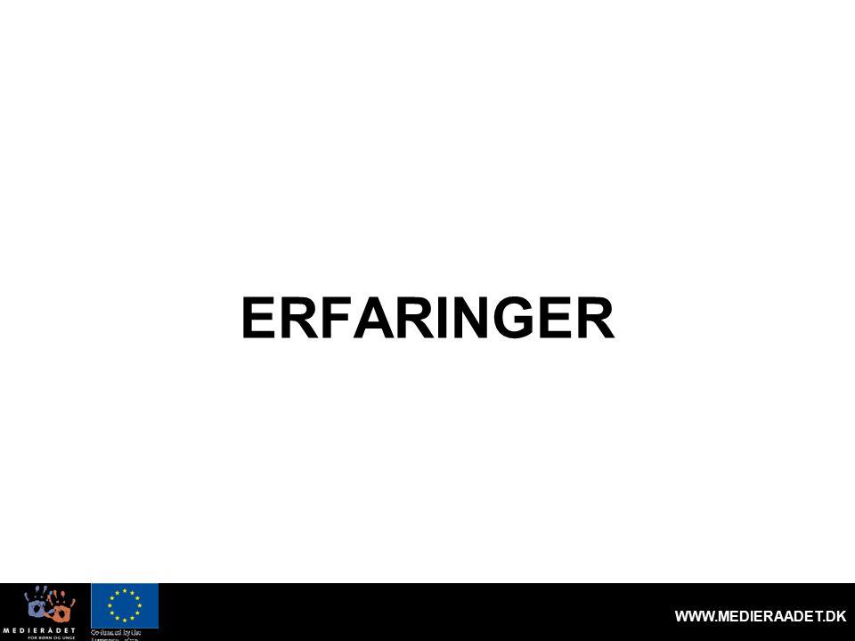 ERFARINGER WWW.MEDIERAADET.DK