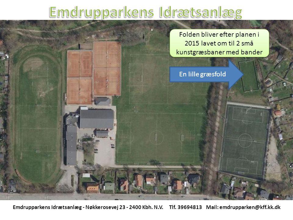 En lille græsfold Folden bliver efter planen i 2015 lavet om til 2 små kunstgræsbaner med bander