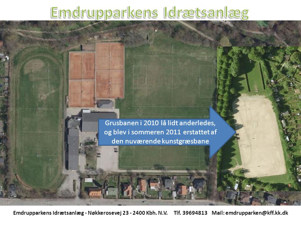 Emdrupparkens Idrætsanlæg - Nøkkerosevej 23 - 2400 Kbh.