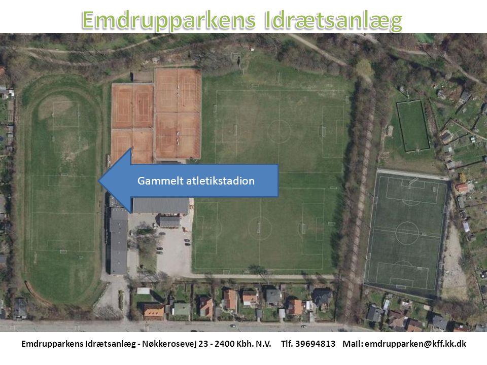 Gammelt atletikstadion Emdrupparkens Idrætsanlæg - Nøkkerosevej 23 - 2400 Kbh.