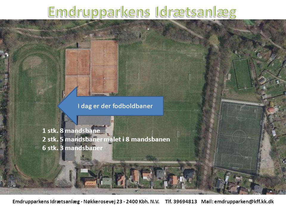I dag er der fodboldbaner Emdrupparkens Idrætsanlæg - Nøkkerosevej 23 - 2400 Kbh.