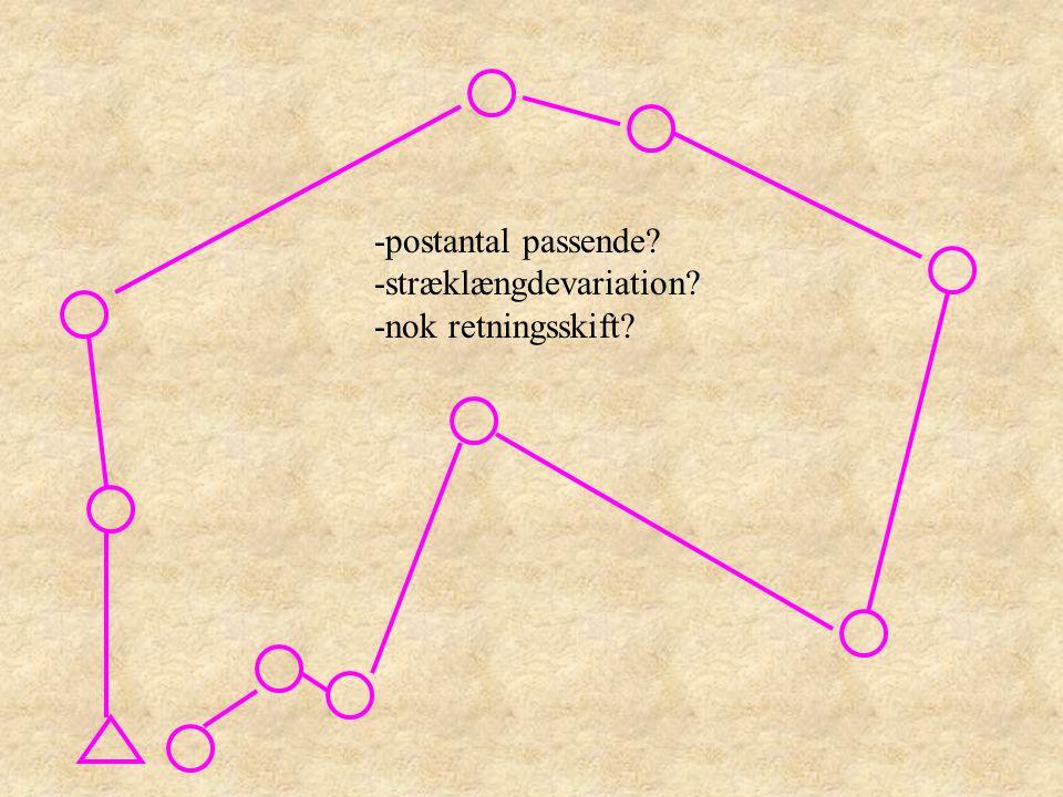 -postantal passende -stræklængdevariation -nok retningsskift