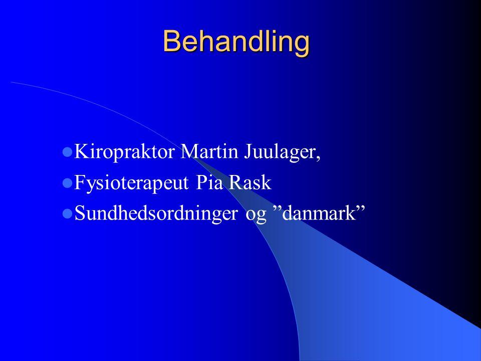 Behandling Kiropraktor Martin Juulager, Fysioterapeut Pia Rask Sundhedsordninger og danmark