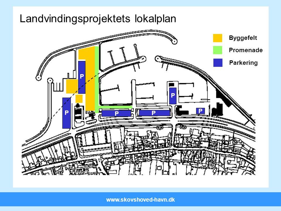 www.skovshoved-havn.dk P P Landvindingsprojektets lokalplan Byggefelt Promenade P P P P Parkering