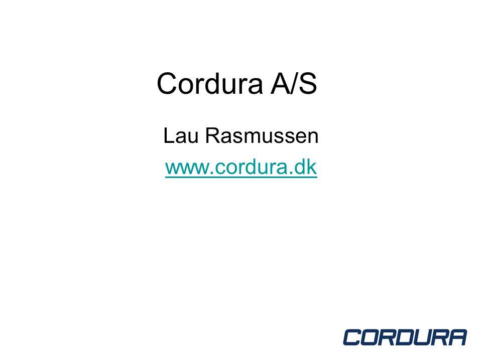 Cordura A/S Lau Rasmussen www.cordura.dk