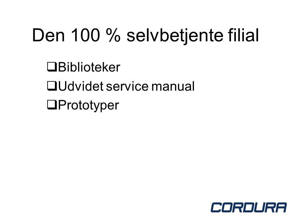 Den 100 % selvbetjente filial  Biblioteker  Udvidet service manual  Prototyper