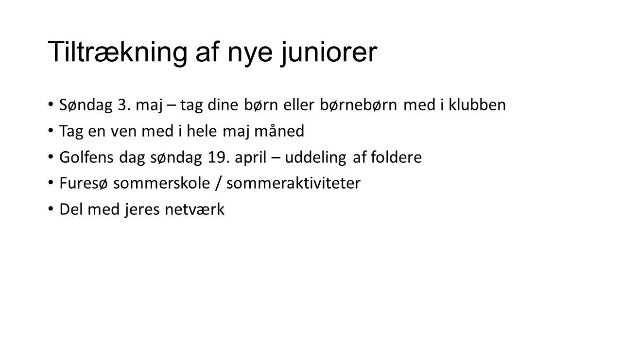 Tiltrækning af nye juniorer Søndag 3.