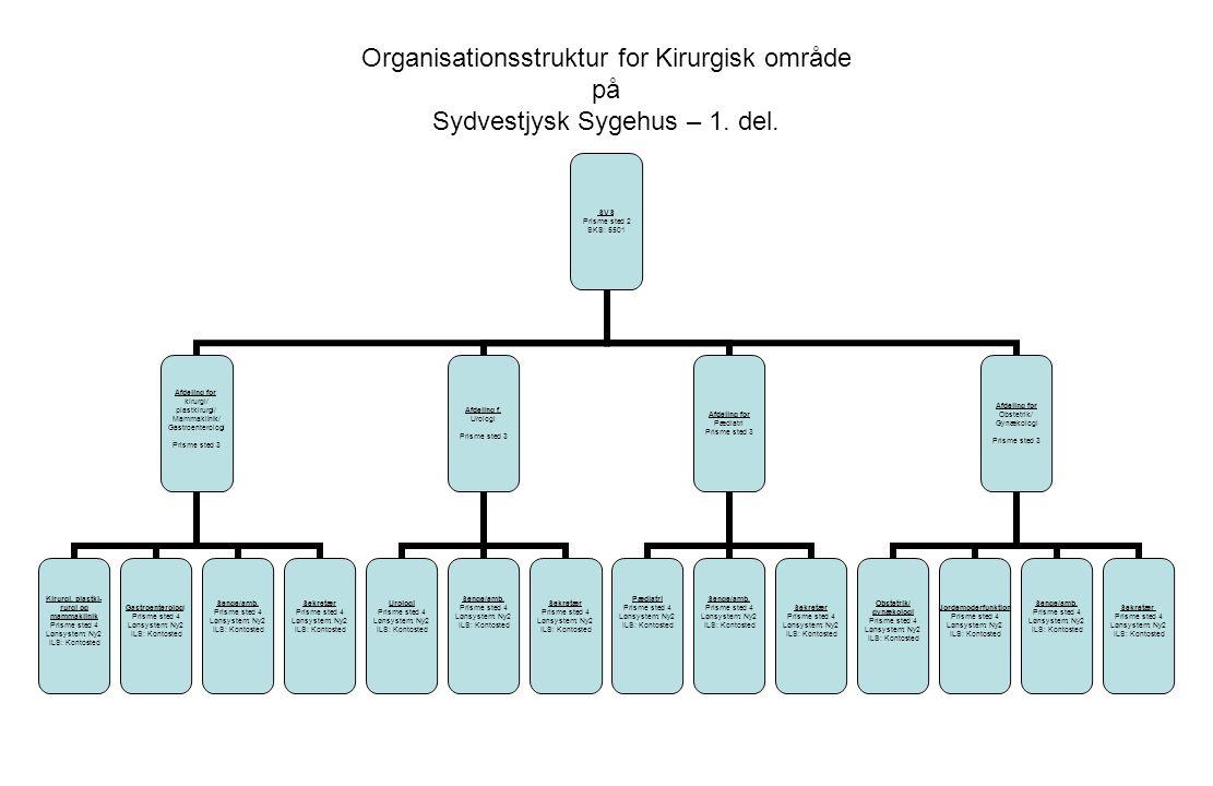 Organisationsstruktur for Kirurgisk område på Sydvestjysk Sygehus – 1.