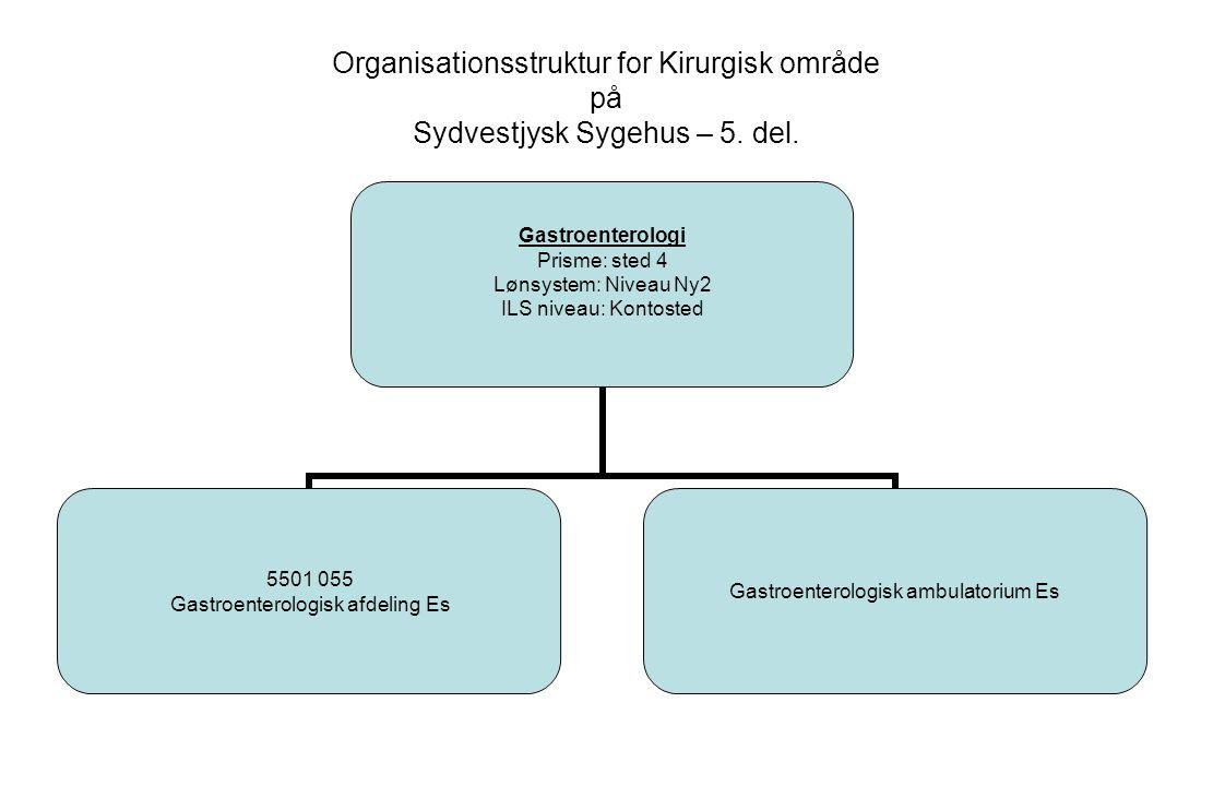 Organisationsstruktur for Kirurgisk område på Sydvestjysk Sygehus – 5.