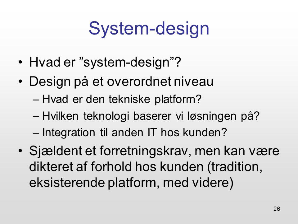 26 System-design Hvad er system-design .