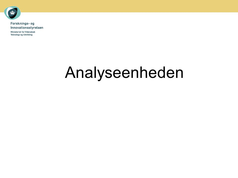 Analyseenheden