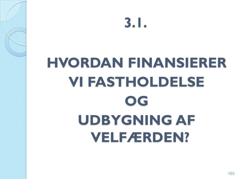 3.1. HVORDAN FINANSIERER VI FASTHOLDELSE OG UDBYGNING AF VELFÆRDEN 103