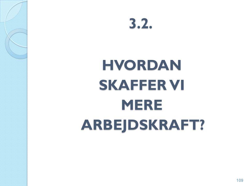 3.2. HVORDAN SKAFFER VI MERE ARBEJDSKRAFT ARBEJDSKRAFT 109