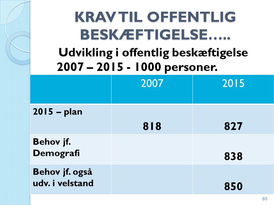 KRAV TIL OFFENTLIG BESKÆFTIGELSE…..