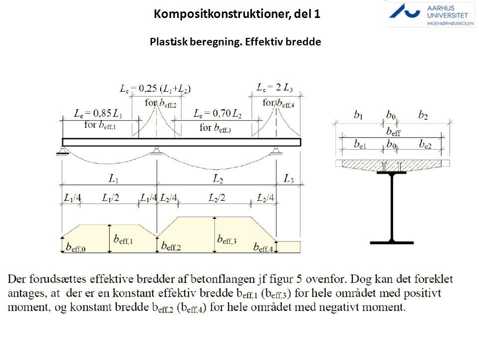 Kompositkonstruktioner, del 1. Plastisk beregning. Effektiv bredde