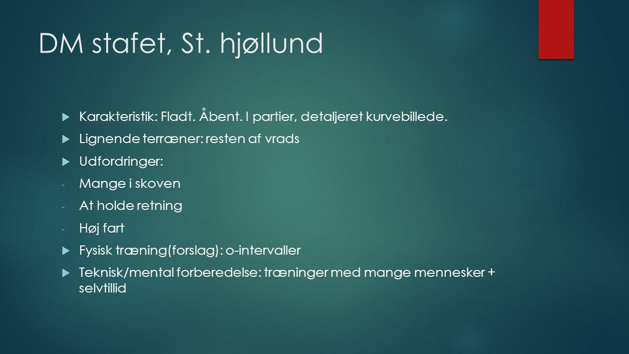 DM stafet, St. hjøllund  Karakteristik: Fladt. Åbent.