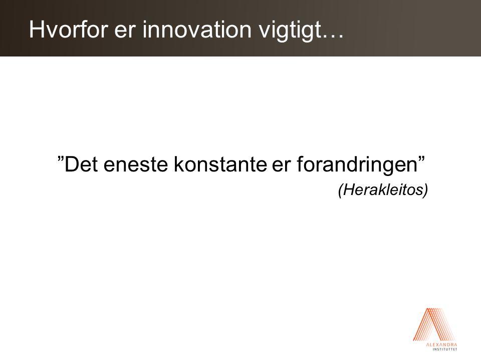 Click to edit Master title style Det eneste konstante er forandringen (Herakleitos) Hvorfor er innovation vigtigt…