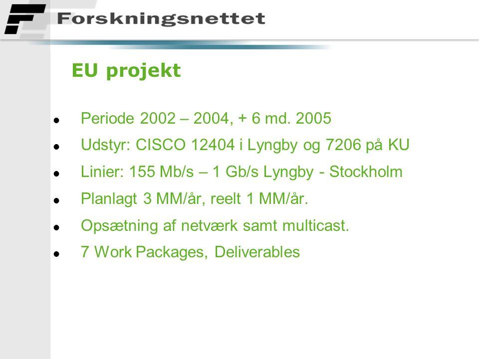 EU projekt l Periode 2002 – 2004, + 6 md.