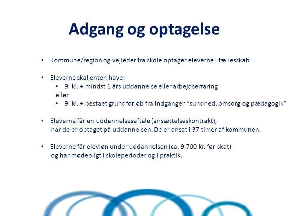 Adgang og optagelse l Kommune/region og vejleder fra skole optager eleverne i fællesskab Eleverne skal enten have: 9.