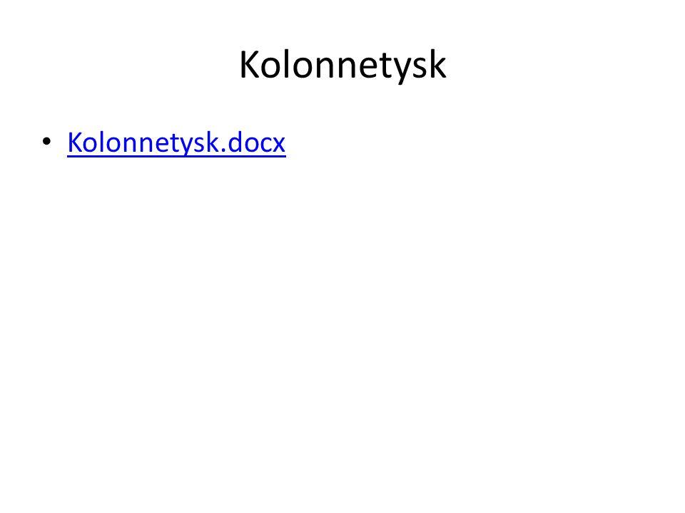 Kolonnetysk Kolonnetysk.docx