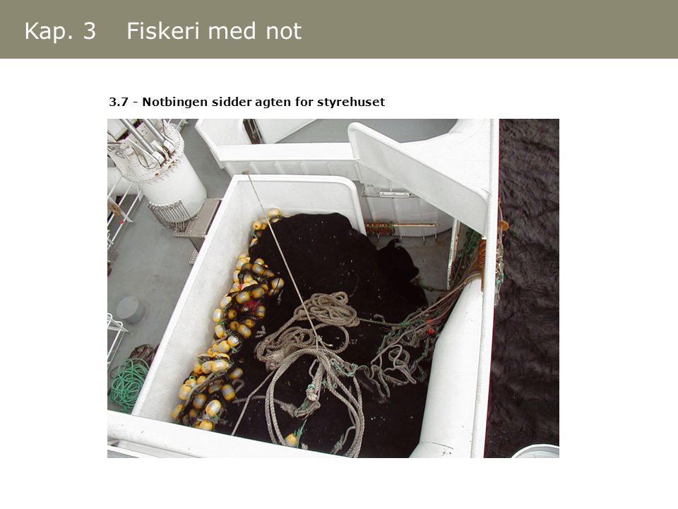 3.7 - Notbingen sidder agten for styrehuset Kap. 3 Fiskeri med not