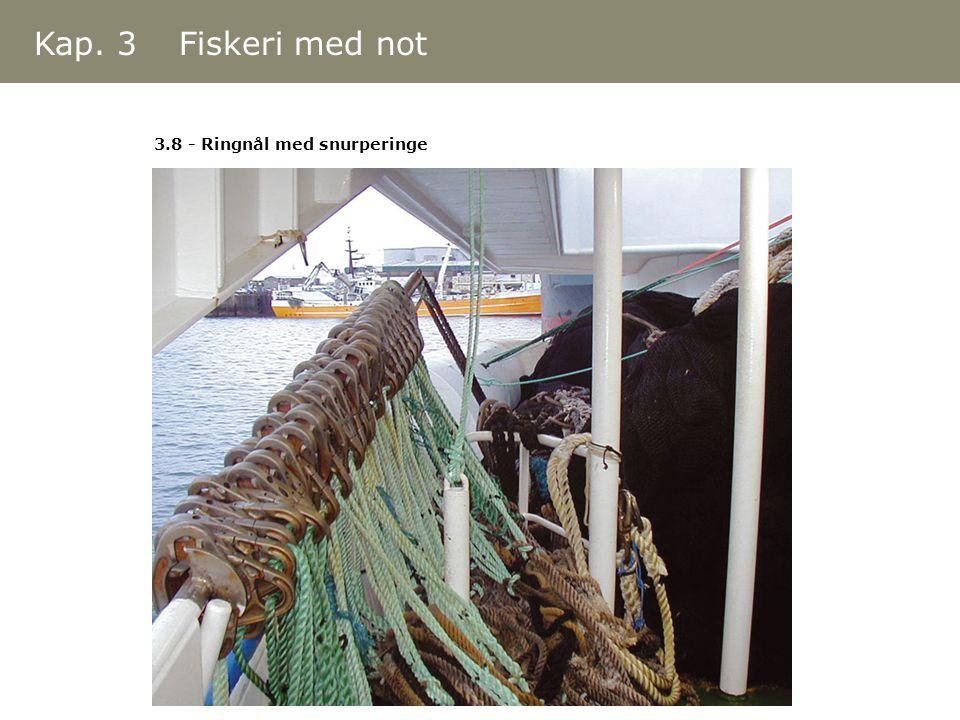 3.8 - Ringnål med snurperinge Kap. 3 Fiskeri med not