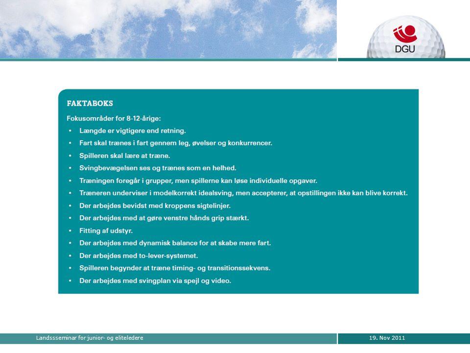 19. Nov 2011Landssseminar for junior- og eliteledere