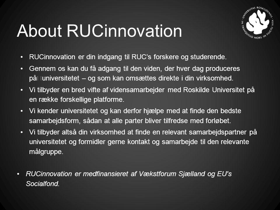RUCinnovation er din indgang til RUC's forskere og studerende.