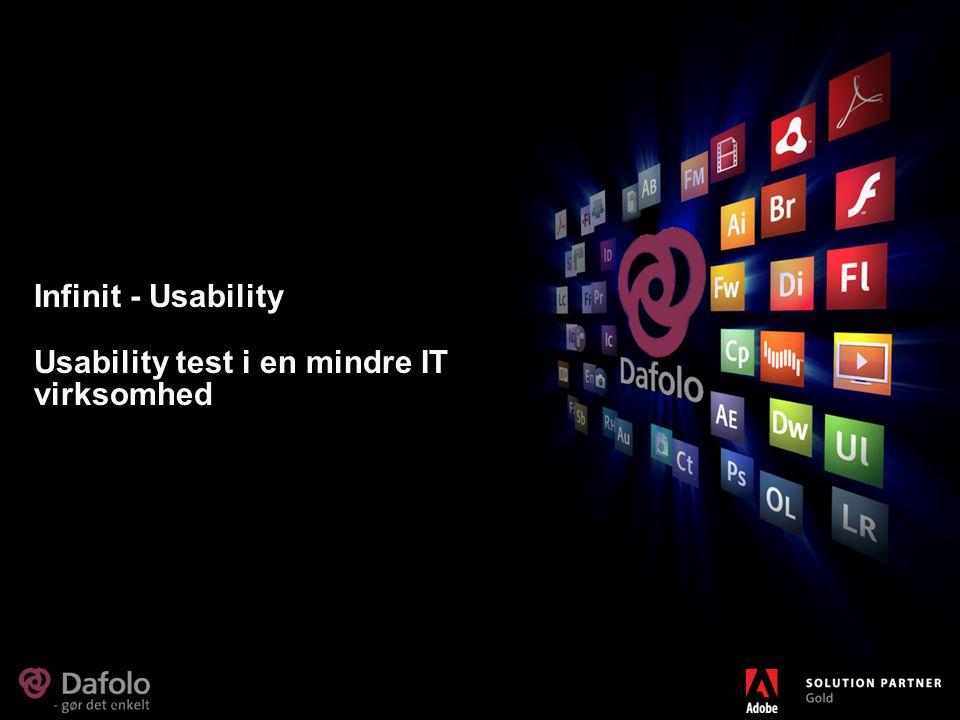 Infinit - Usability Usability test i en mindre IT virksomhed