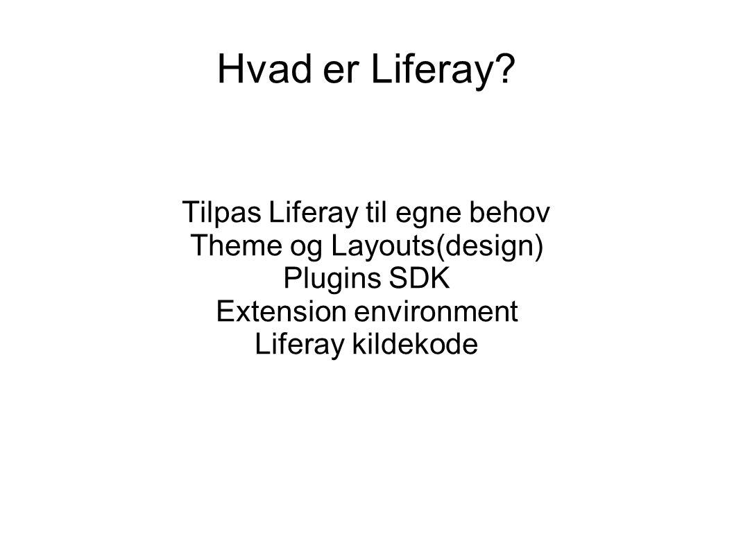 Hvad er Liferay.