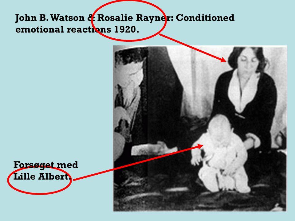 I 1919 begyndte Watson at studere spædborn Det er i den forbindelse, at vi skal se Watsons andet berømte forsøg.