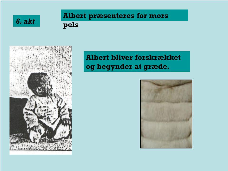 Albert præsenteres for juleskæg 5. akt Albert bliver forskrækket og begynder at græde.