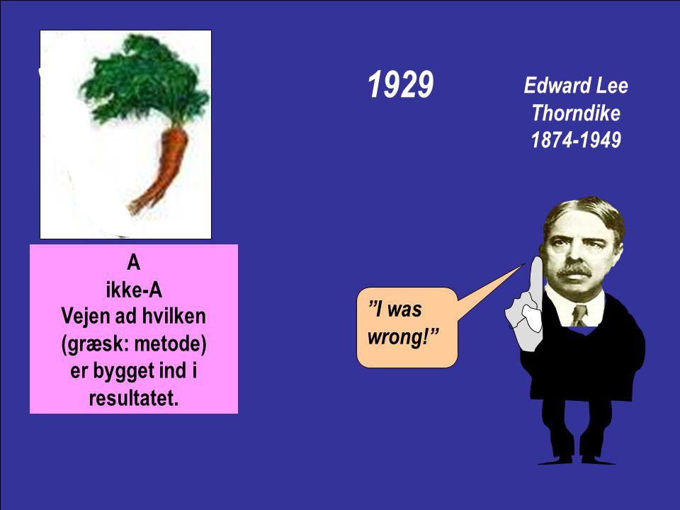 Edward Lee Thorndike 1874-1949 William James selektion af det funktionelle Pleasure stamps in, pain stamps out!
