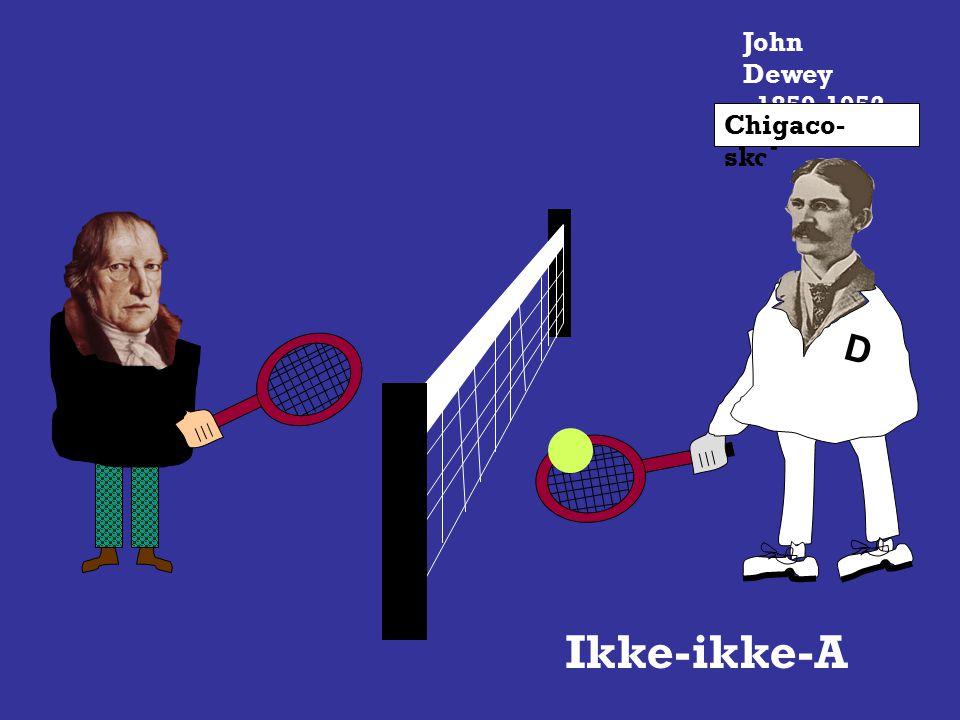 John Dewey 1859-1952 Chigaco- skolen D Ikke- A