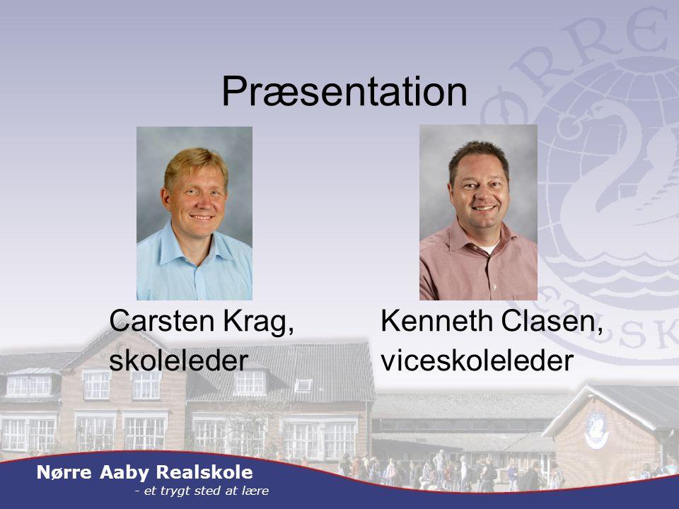 Nørre Aaby Realskole - et trygt sted at lære Præsentation Carsten Krag,Kenneth Clasen, skolelederviceskoleleder