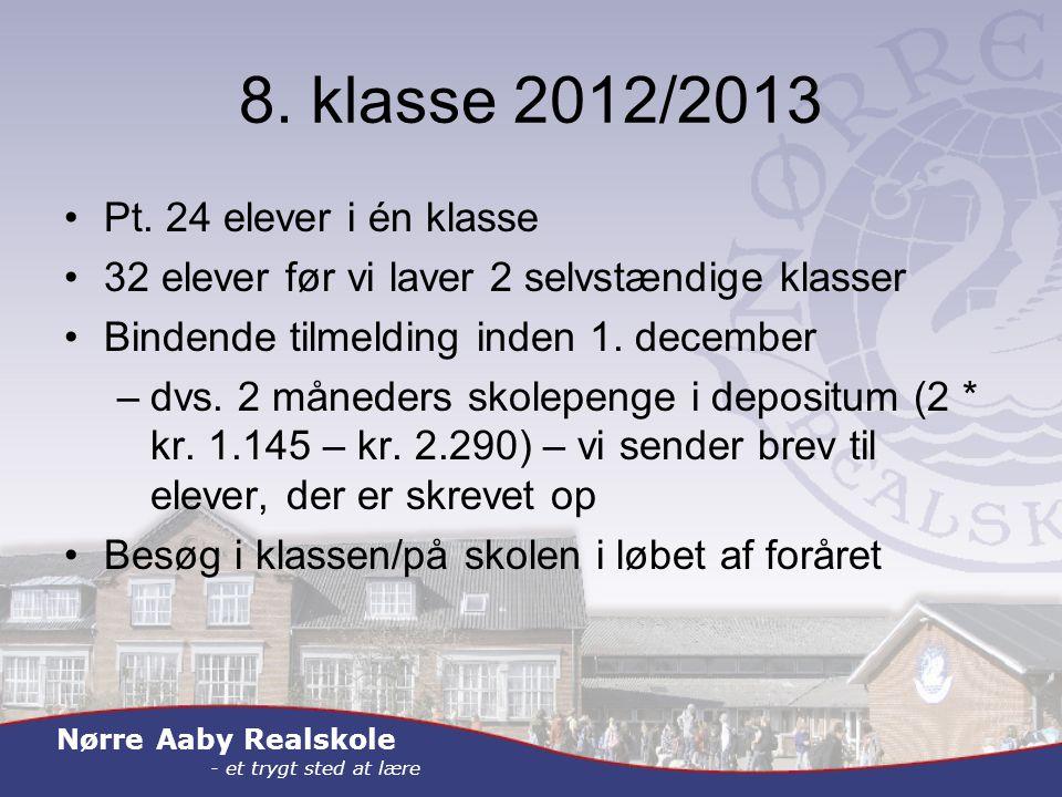 Nørre Aaby Realskole - et trygt sted at lære 8. klasse 2012/2013 Pt.
