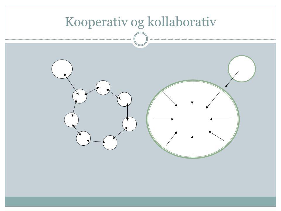 Kooperativ og kollaborativ