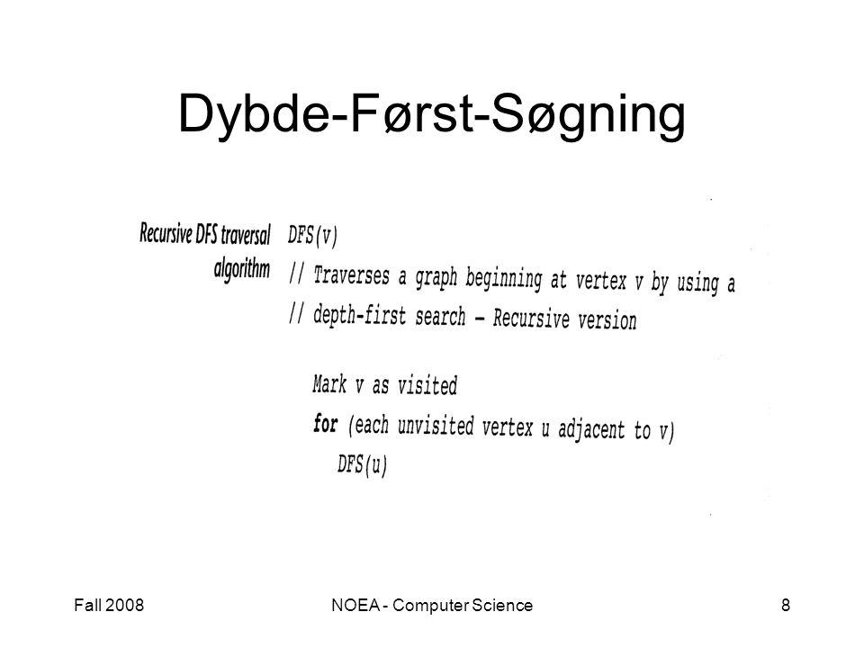 Fall 2008NOEA - Computer Science8 Dybde-Først-Søgning