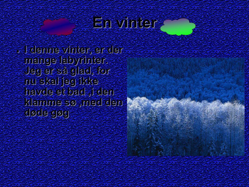En vinter I denne vinter, er der mange labyrinter.