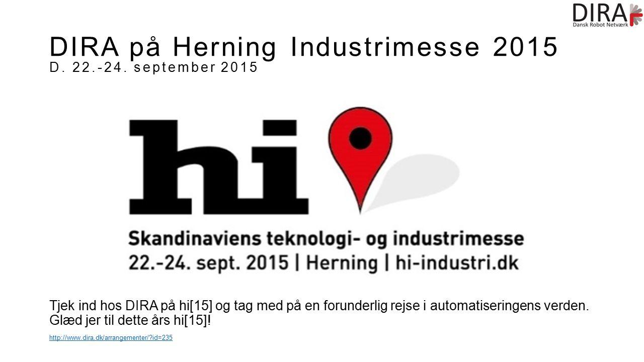 DIRA på Herning Industrimesse 2015 D. 22.-24.