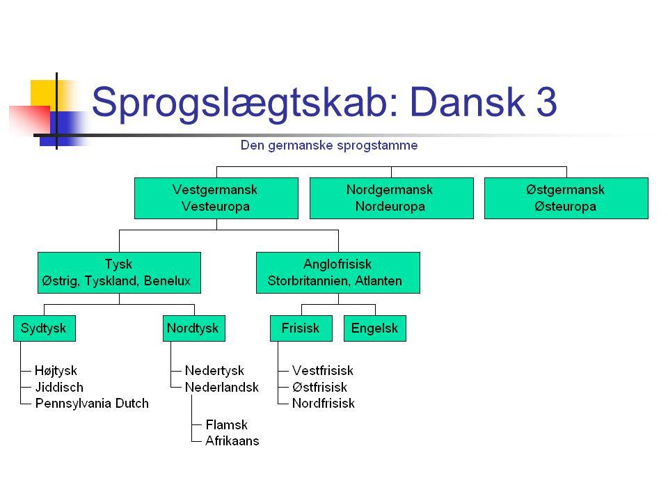 Sprogslægtskab: Dansk 3
