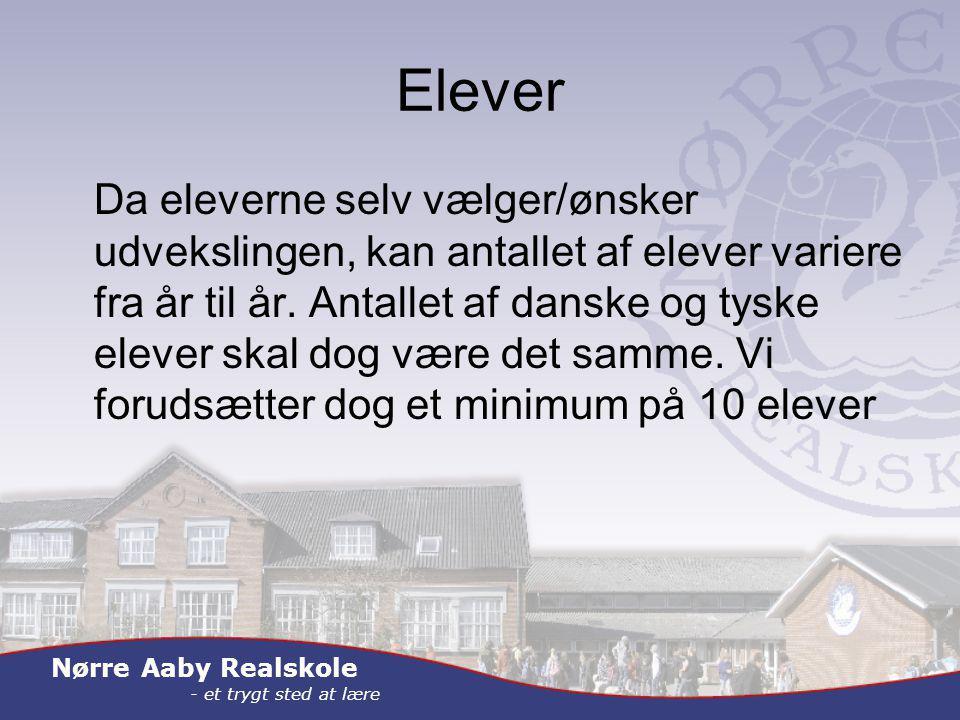 Nørre Aaby Realskole - et trygt sted at lære Elever Da eleverne selv vælger/ønsker udvekslingen, kan antallet af elever variere fra år til år.