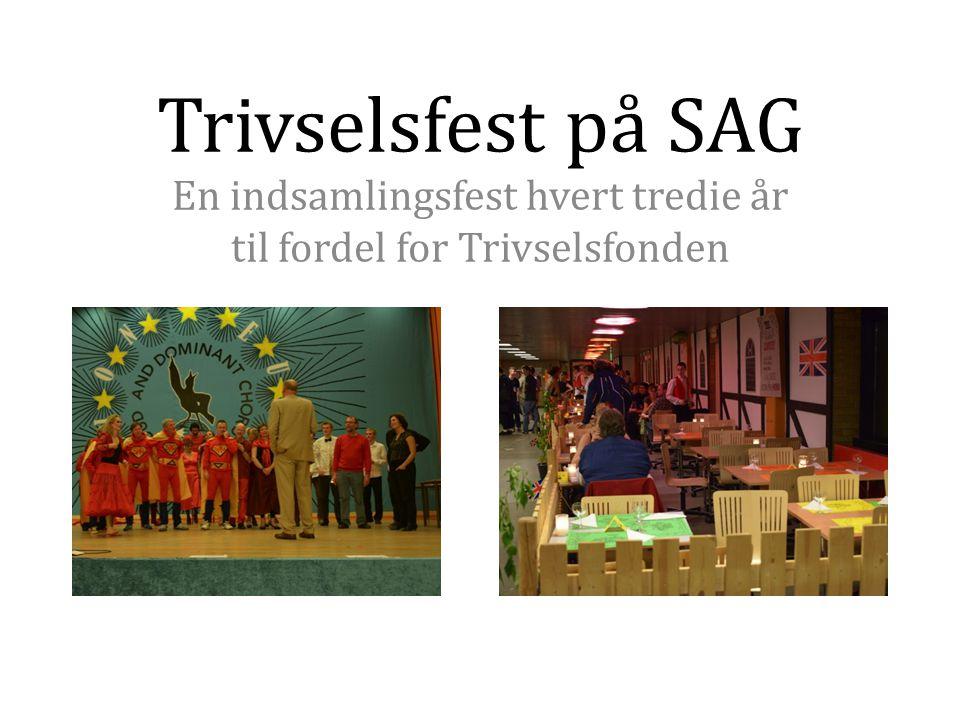Trivselsfest på SAG En indsamlingsfest hvert tredie år til fordel for Trivselsfonden