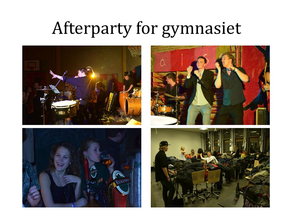 Afterparty for gymnasiet