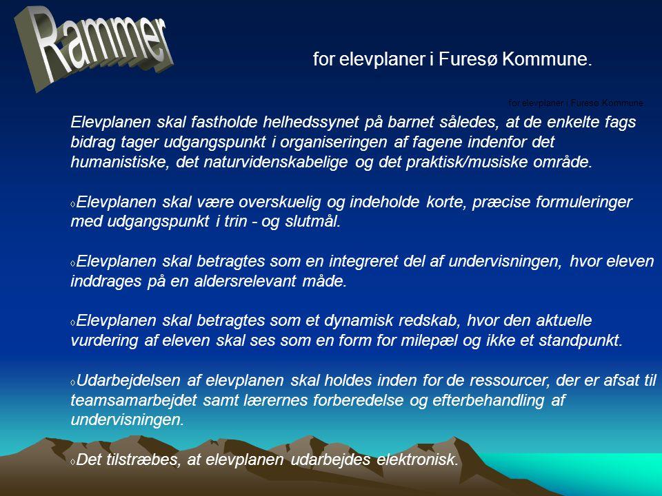 for elevplaner i Furesø Kommune.