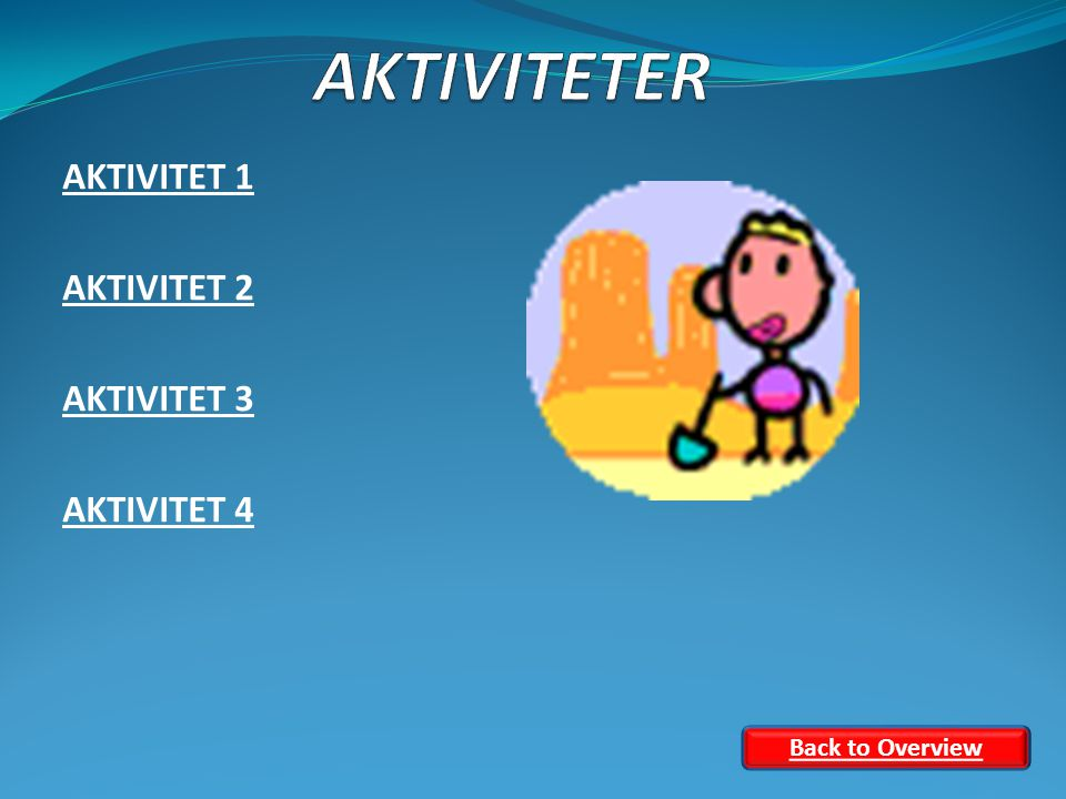 AKTIVITET 1 AKTIVITET 2 AKTIVITET 3 AKTIVITET 4 Back to Overview