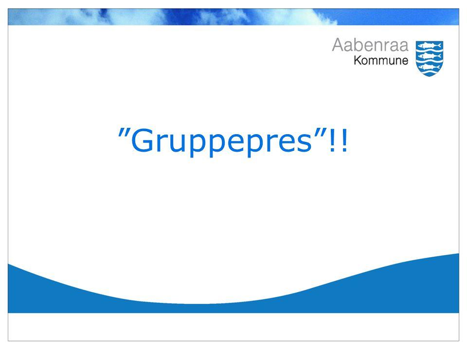 Gruppepres !!
